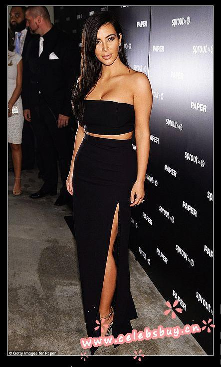 Aliexpress.com : buy kim kardashian 2 piece sexy skin revealing dress black paper magazine party in miami two piece prom 2014 celebrity dress from reliable paper party cup suppliers on celebsbuy dress factory store