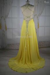 dress,yellow prom dresses,prom dress,long prom dress,cute