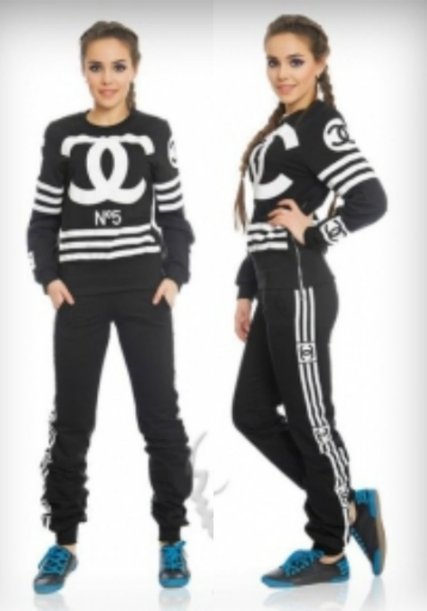 Chanel inspired cc no.5 long sleeves tracksuit set