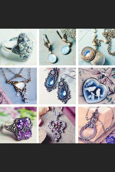 jewels purple gold crystal necklace silver ring earrings jewel grunge crystals,raw,stone,necklaces moon stone sapphire and diamond sapphire blue