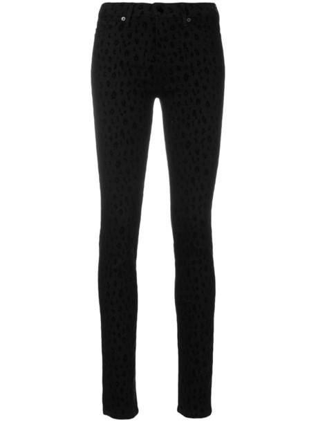 LOVE MOSCHINO jeans women spandex cotton print black leopard print