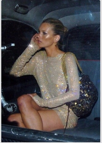 party dress sequins clubwear kate moss