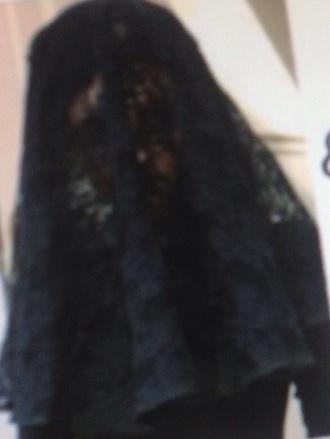 hair accessory pretty little liars black veil black