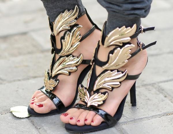 Cruel summer gold flame sandals – glamzelle
