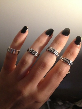 jewels ring silver midi rings knuckle ring gypsy silver