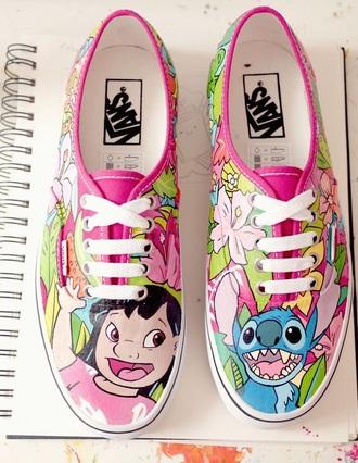 shoes vans disney lilo and stitch