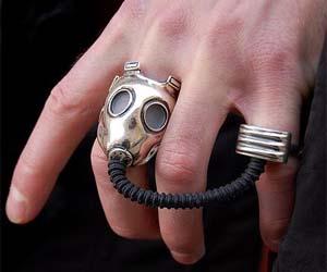 Gas mask ring