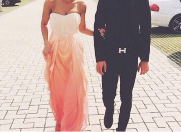 dress ombre dress maxidress long dress orange dress prom dress pink dress