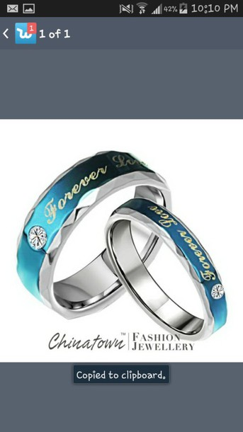 ring blue wedding ring jewels couples rings forever love
