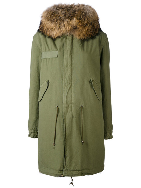 Mr & Mrs Italy parka fur women cotton green coat