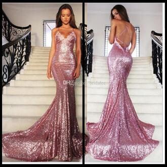 prom dress sequin prom dress sparkly prom dress pink prom dress