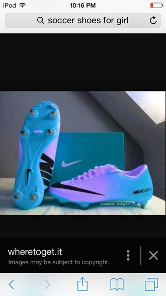 shoes purple and blue and its nike purple blue colorful nike soccer cleats air jordans pink white shoes swag girls