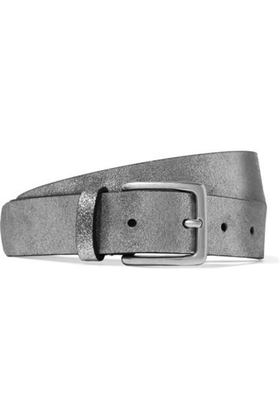 ANDERSON'S metallic belt silver leather