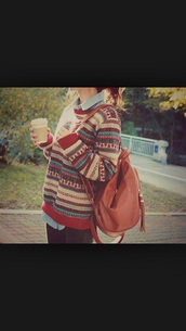 sweater,multicolor,pattern,patterned sweater,tumblr sweater,winter sweater,fall sweater,bag,pattern sweater,color/pattern,stripes,tumblr,cute,striped sweater,jumper,aztec sweater,printed sweater,cardigan,hipster sweater,preppy,cute sweaters