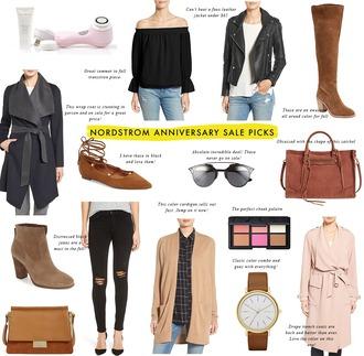 crystalin marie blogger blouse jacket shoes coat sunglasses bag jeans cardigan jewels