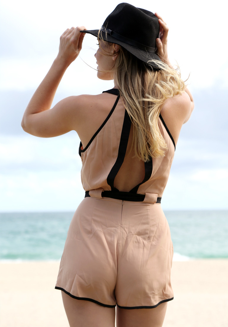 Slit Back Romper - Lookbook Store
