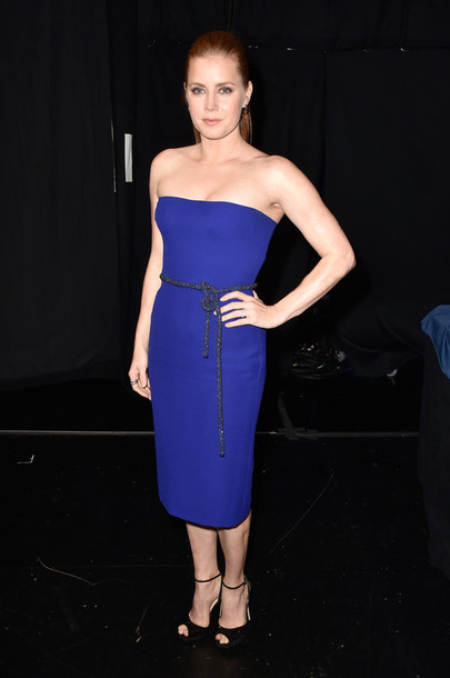 strapless amy adams blue dress