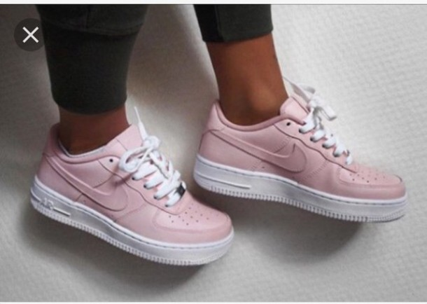 shoes nike pink nike air force low nike air force 1. Black Bedroom Furniture Sets. Home Design Ideas