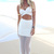 White Long Skirt - White Semi-Sheer Maxi Skirt with | UsTrendy