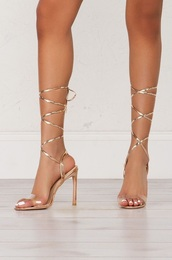 shoes,gold,heels,gold heels,akira,chicago,prom,prom shoes,wrapped shoes,wrap shoes,metal heels,metal shoes,gold shoes,rose gold shoes,gold choker