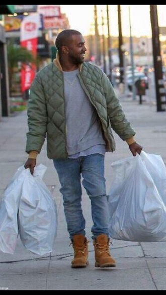 kanye west urban menswear bomber jacket khaki bomber jacket