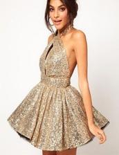 dress,gold,sequins,gold sequins,short dress