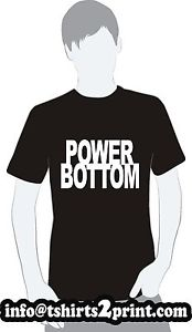 POWER BOTTOM T-Shirt As worn by Louis Tomlinson One Direction Tshirt | eBay