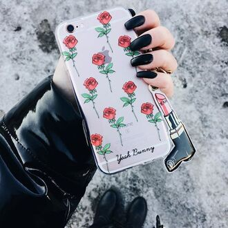 phone cover yeah bunny rose iphone case iphone cover floral flowers