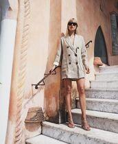 sunglasses,blazer,dress,sandals