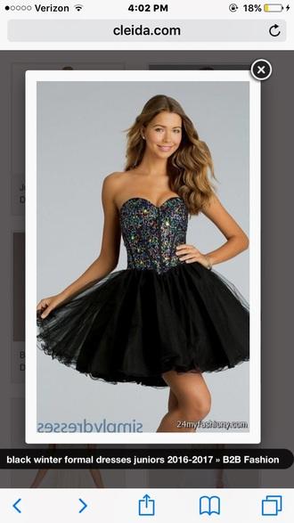 dress formal dress black dress sparkly dress