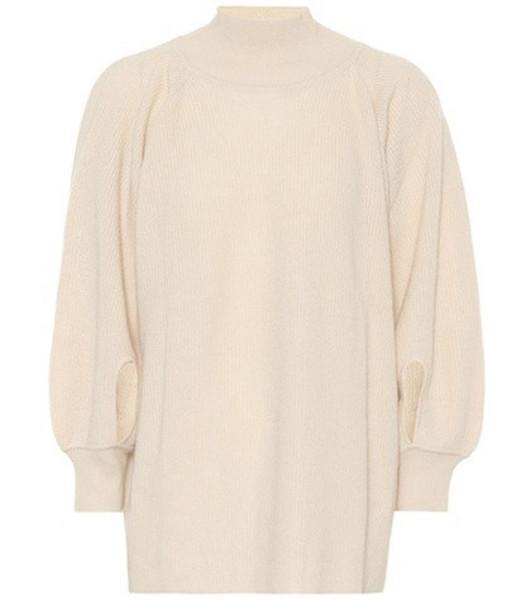 Ryan Roche Cashmere sweater in neutrals