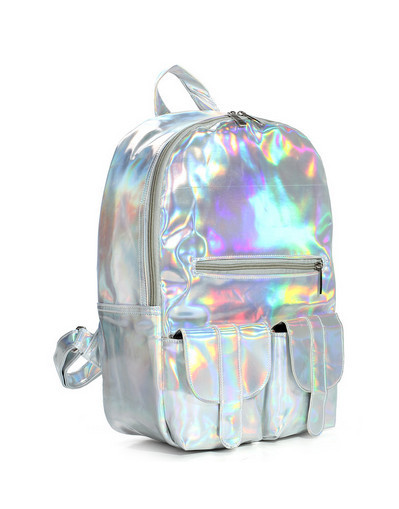Hologram big bag school silver tie dye trendy purple gold bags
