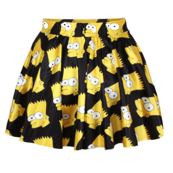 a923ab0458 shirt simpson skirt head skirt casual skirt fashion skirts short dress pleated  skirt