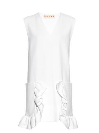 dress sleeveless white