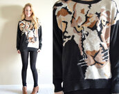 sweater,tiger,lion,cats,tiger top,cat top,lion top,animal top,animal sweatshirt,abstract sweater,black sweater,hipster,hipster sweaer,tumblr,tumblr sweater,cozy,winter outfits,fashion,style,boho sweater,bohemian sweater,boho top,boho sweatshirt,bohemian top,bohamian sweatshirt,hippie sweater,hippie sweatshirt,boho fashion,boho,bohemian,hippie,jungle,jungle sweater,sweater weather,tiger sweater,tiger sweatshirt,tiger print,cat sweater,cat sweatshirt,lion sweater,lion sweatshirts,animal sweater,animal print,boho chic,hippie chic,kitty sweater