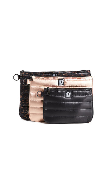 Think Royln 3 Ring Circus Large Pouches in gold / neutral / rose