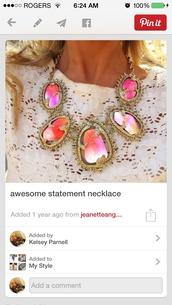 jewels,statement necklace,necklace,colourful necklace,pinterest