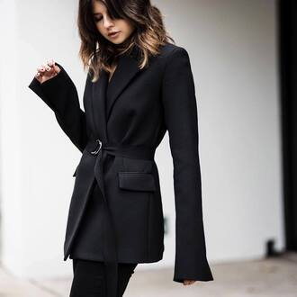 jacket tumblr blazer black blazer pants black pants brunette classy work outfits office outfits