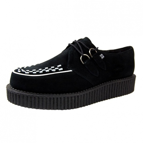 T.U.K. Mondo Lo Sole Brothel Creeper Black Suede