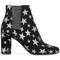 Saint laurent 'babies 90' ankle boots, women's, size: 37.5, black, suede/pvc/leather