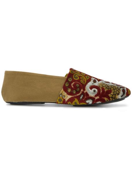 NewbarK women loafers leather velvet shoes