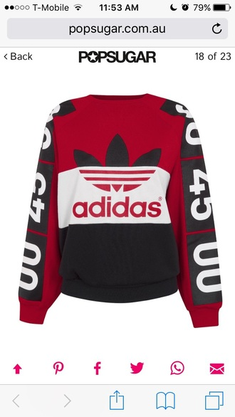 sweater adidas superstars colorblock red musthave