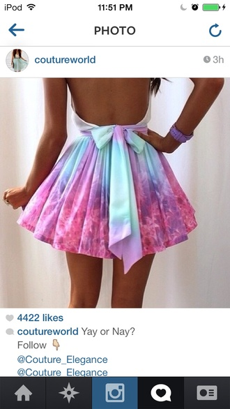dress blue purple pink cute dress cotton candy pink shirt prom dress cosmos skirt galaxy print