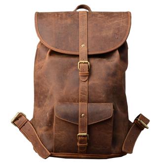 bag old school indie hipster brown vintage backpack leather backpack leather