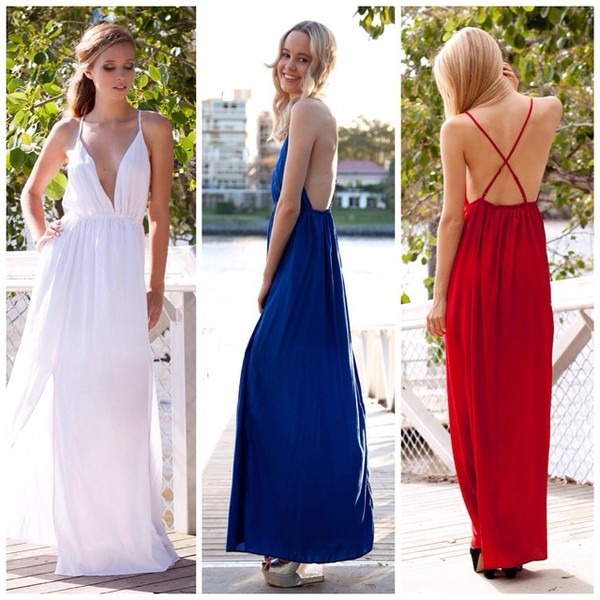 dress maxi dress dress split maxi shopfashionavenue red dress blue dress white dress cute