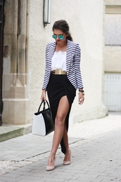 fashionhippieloves,skirt,shirt,jacket,belt,sunglasses,jewels,shoes,bag,blue