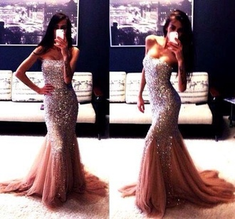 dress beautiful maxi sequin dress pink sparkley long prom dress mermaid prom dresses bustier dress sexy prom dress night luxury clubwear