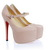 Original Christian Louboutin Daffodile Sheepskin Hidden Platform Nude For Sale-Buy Genuine Christian Louboutin Mary Jane Shoes