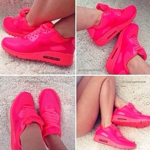 Nike air max red and pink
