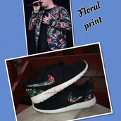 shoes,nike,floral,asian,custom shoes,nike roshe run floral,nike roshe run,custom timberlands,custom nike roshe runs,customized